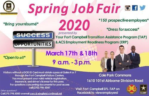Fort Campbell Job Fair Flyer