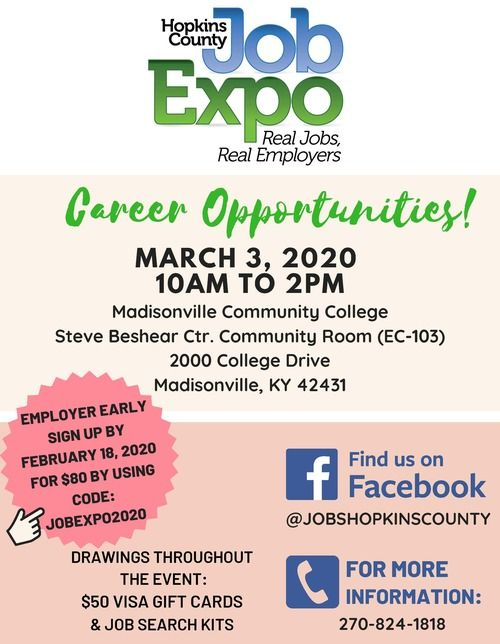 Hopkins County Job Expo Flyer