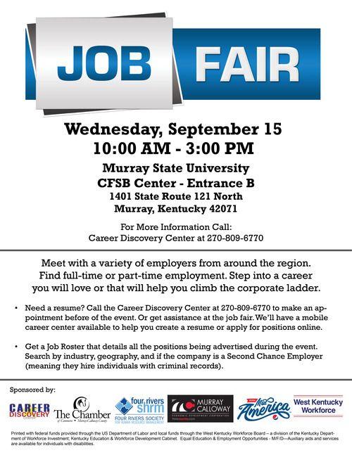 Murray Job Fair Flyer