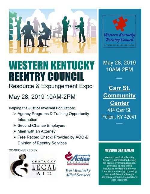Reentry Council Resource & Expungement Expo Flyer