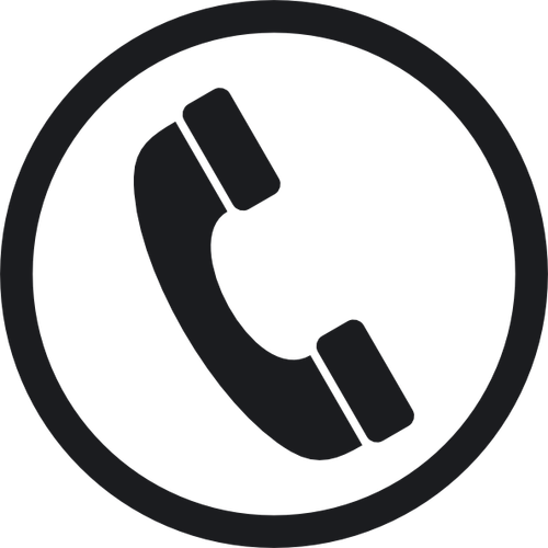 black telephone icon