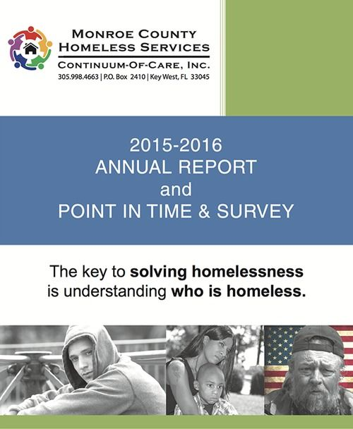 Monroe County homeless services 2015 to 2016 annual report and point in time survey