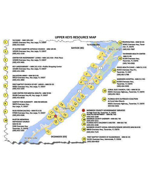 upper keys resource map - call 305-440-2315 today for more information and resources