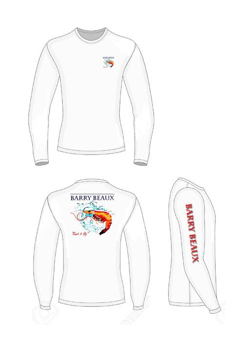 shrimp dri fit fishing shirt