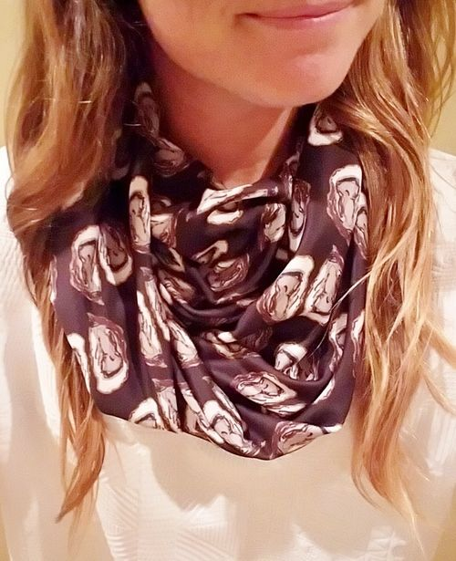 oyster shell infinity scarf