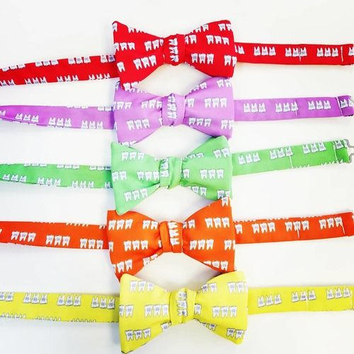 braces colorful bow ties