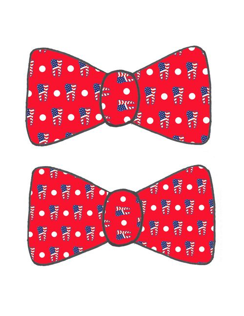 red ada bow ties