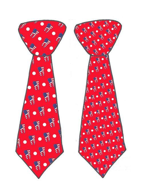 red ada neckties