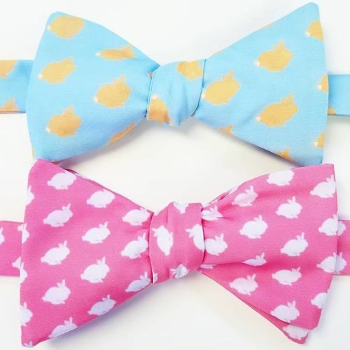 Easter bunny bow ties
