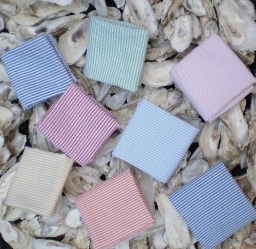 Seersucker pocket squares
