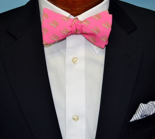 pink boiled peanut bow tie