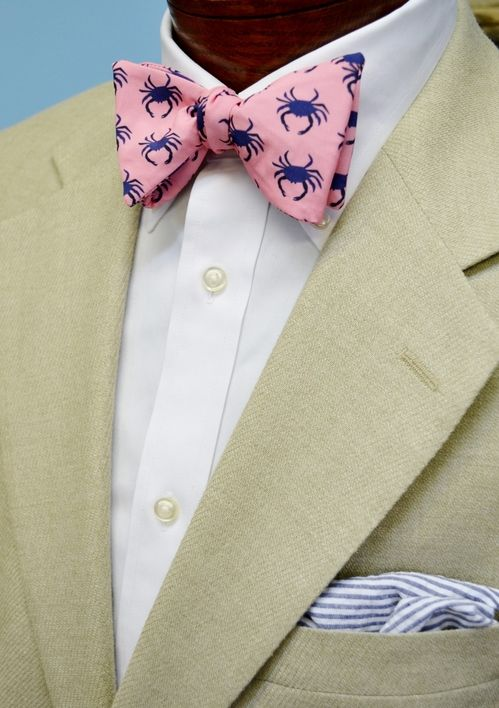 pink crab bow tie