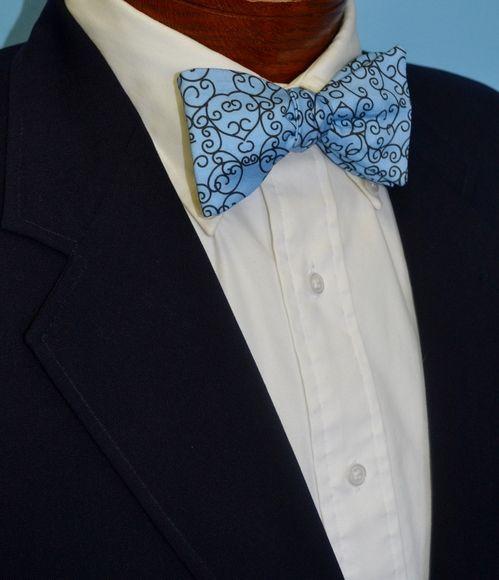 ironwork blue bow tie