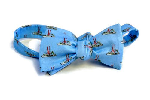 SHEM CREEK SHRIMP BOAT  bow tie