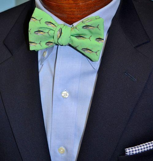green tuna bow tie