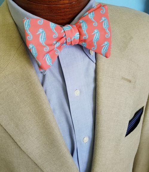 seahorse bow tie