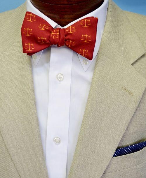 justice scales bow tie