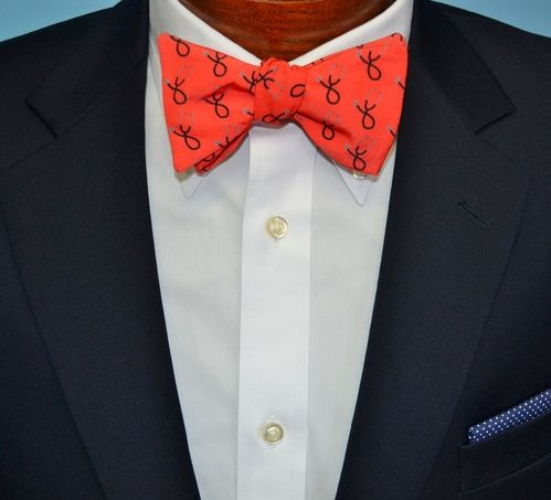 red stethoscope bow tie
