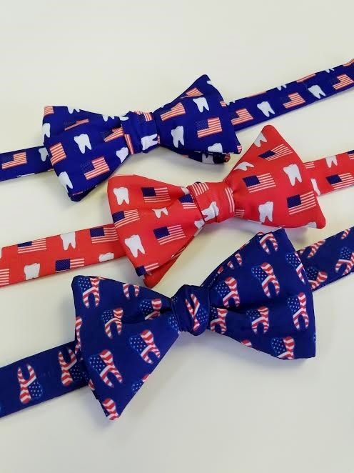 patirotic dental bow tie