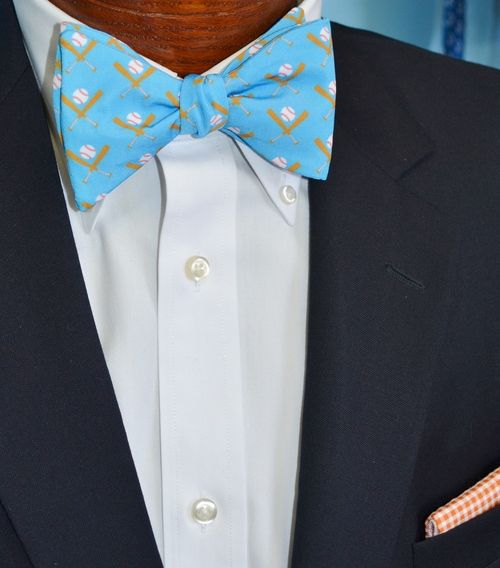 baseball bow tie