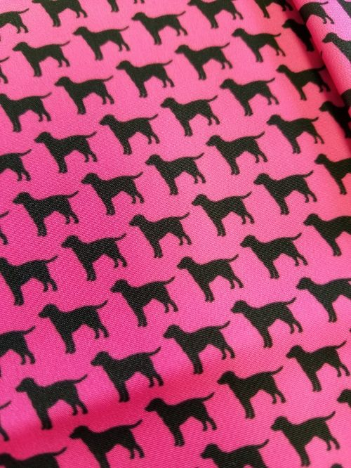 black lab pink bow tie