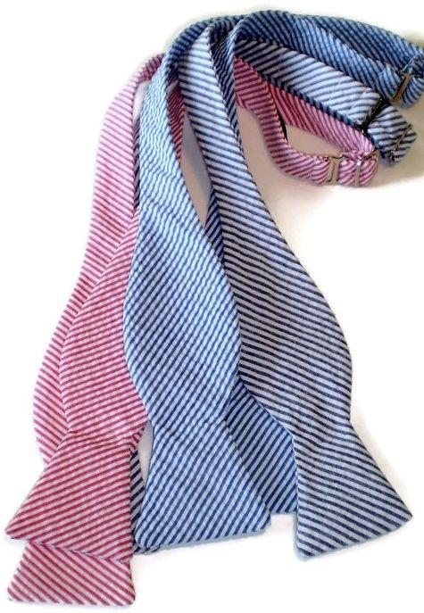 seersucker bow ties