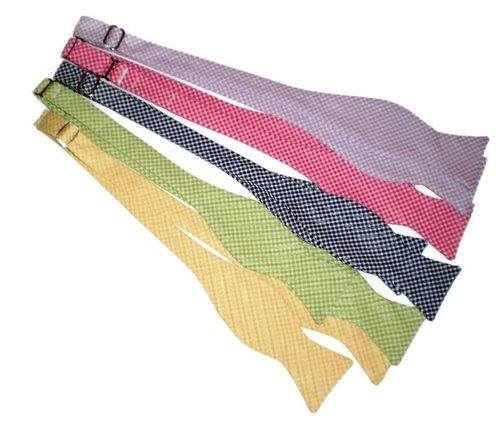 seersucker gingham bow ties