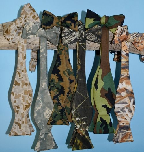 camouflage bow ties
