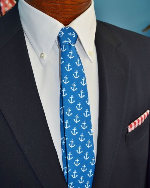 blue anchors tie