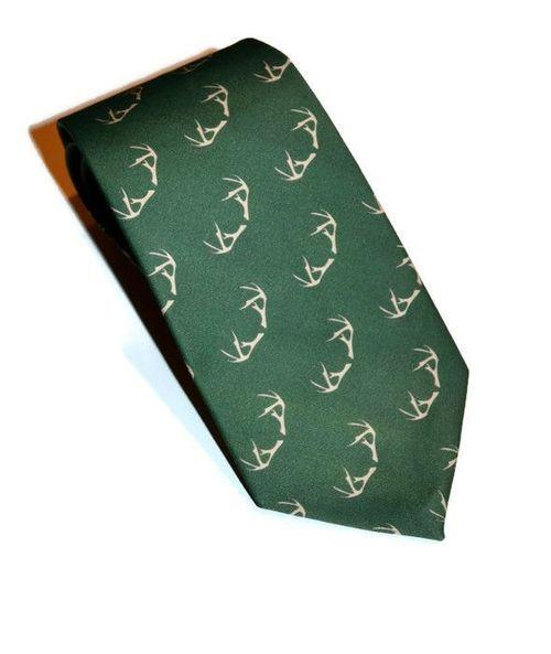 green antlers necktie