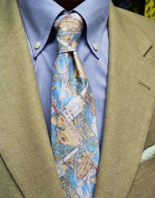 Charleston Map Tie