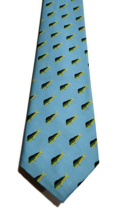 mahi mahi blue necktie