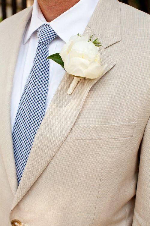 seersucker gingham necktie