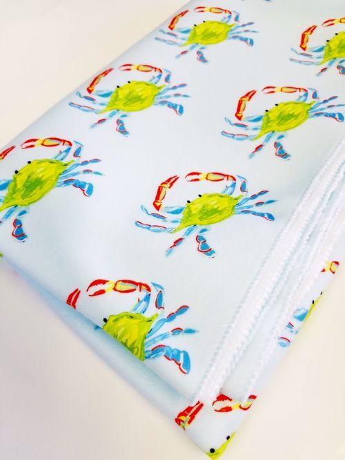 crab fleece blanket