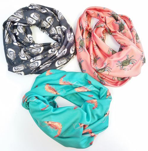 infinity coastal designed scarves