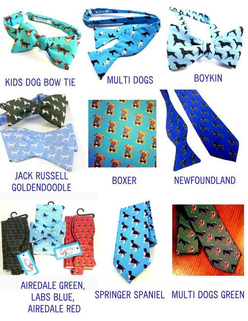 bow ties with dogs on them