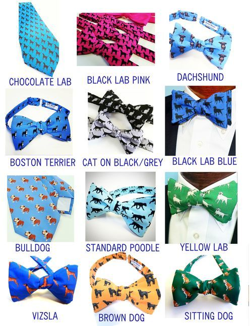 bow ties and ties with pets on them