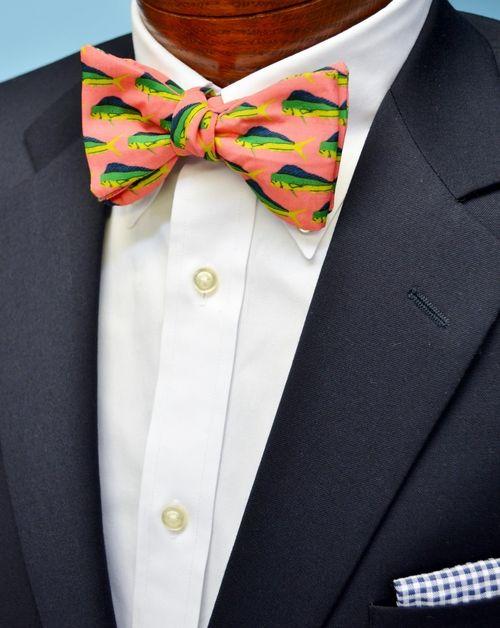 mahi mahi fish bow tie