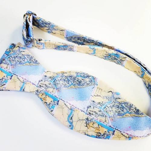 folly beach map bow tie