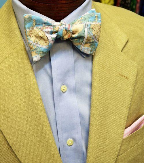 Charleston map bow tie