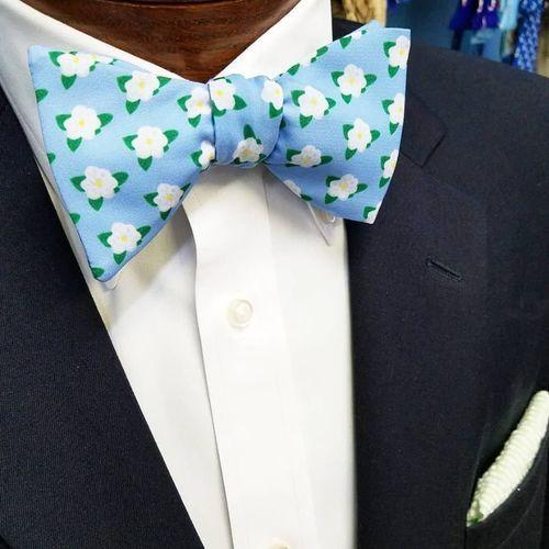magnolia floral bow tie