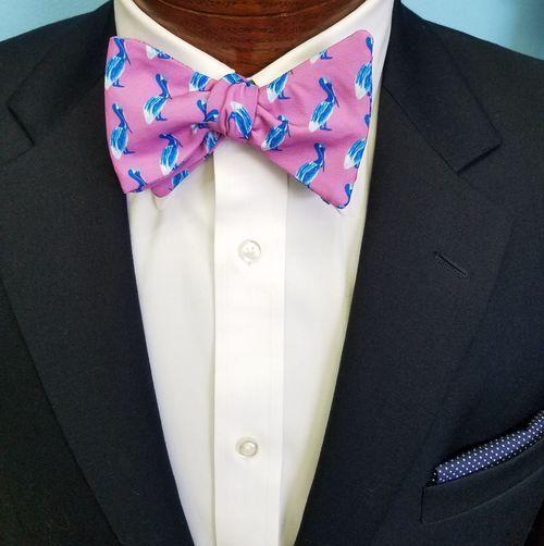 purple pelican bow tie