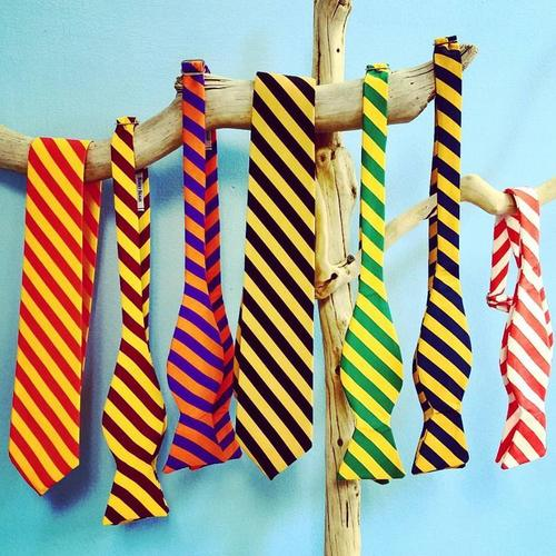 Striped bow ties