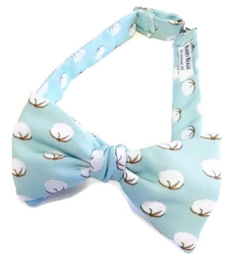 cotton boll bow tie