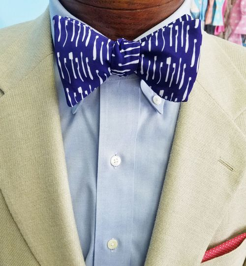 toothbrush navy bow tie