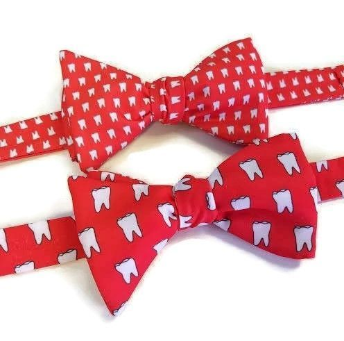 red tooth bow tie
