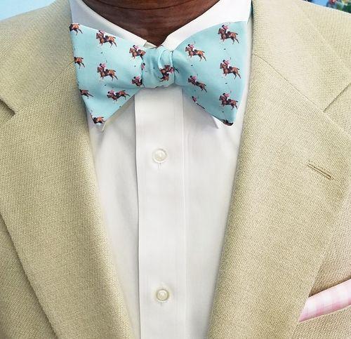 polo horses bow tie