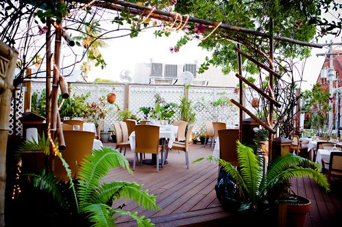 Outdoor Dining Area at Roof Top Cafe