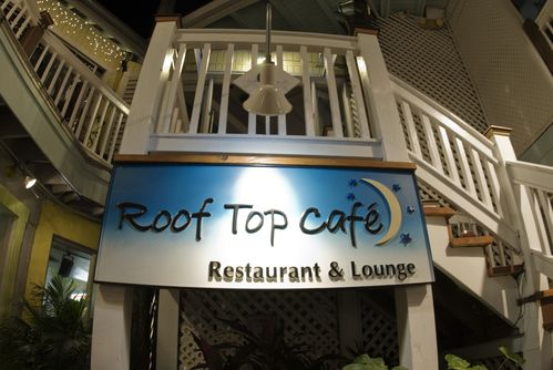 Staircase Leading to Roof Top Cafe
