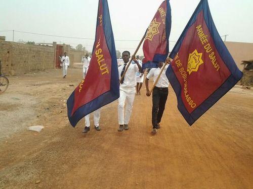 bandiere dell'Esercito della salvezza in Burkina Faso